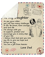 "You'll Face Many Challenges - Dad To Daughter Sherpa Fleece Blanket - 50"" x 60"" thumbnail"