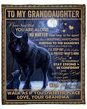 """Never Feel That U Are Alone Wolf GM To GD Fleece Blanket - 50"""" x 60"""" front"""