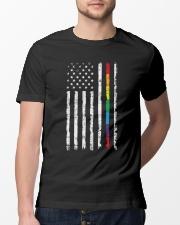 Gay Pride Rainbow American Flag Classic T-Shirt lifestyle-mens-crewneck-front-13