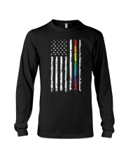 Gay Pride Rainbow American Flag Long Sleeve Tee thumbnail