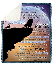 """Inside Blanket There's A Piece Mom To Son Sherpa Fleece Blanket - 50"""" x 60"""" thumbnail"""