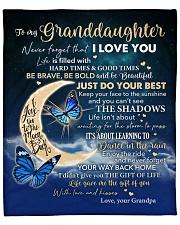 "Moon Be Brave Be Bold Grandmpa To Granddaughter Fleece Blanket - 50"" x 60"" front"