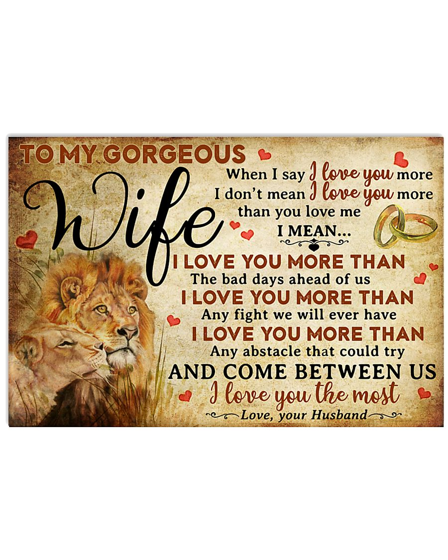 Wife Lion I Love You The Most 17x11 Poster