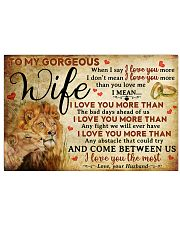 Wife Lion I Love You The Most 17x11 Poster front