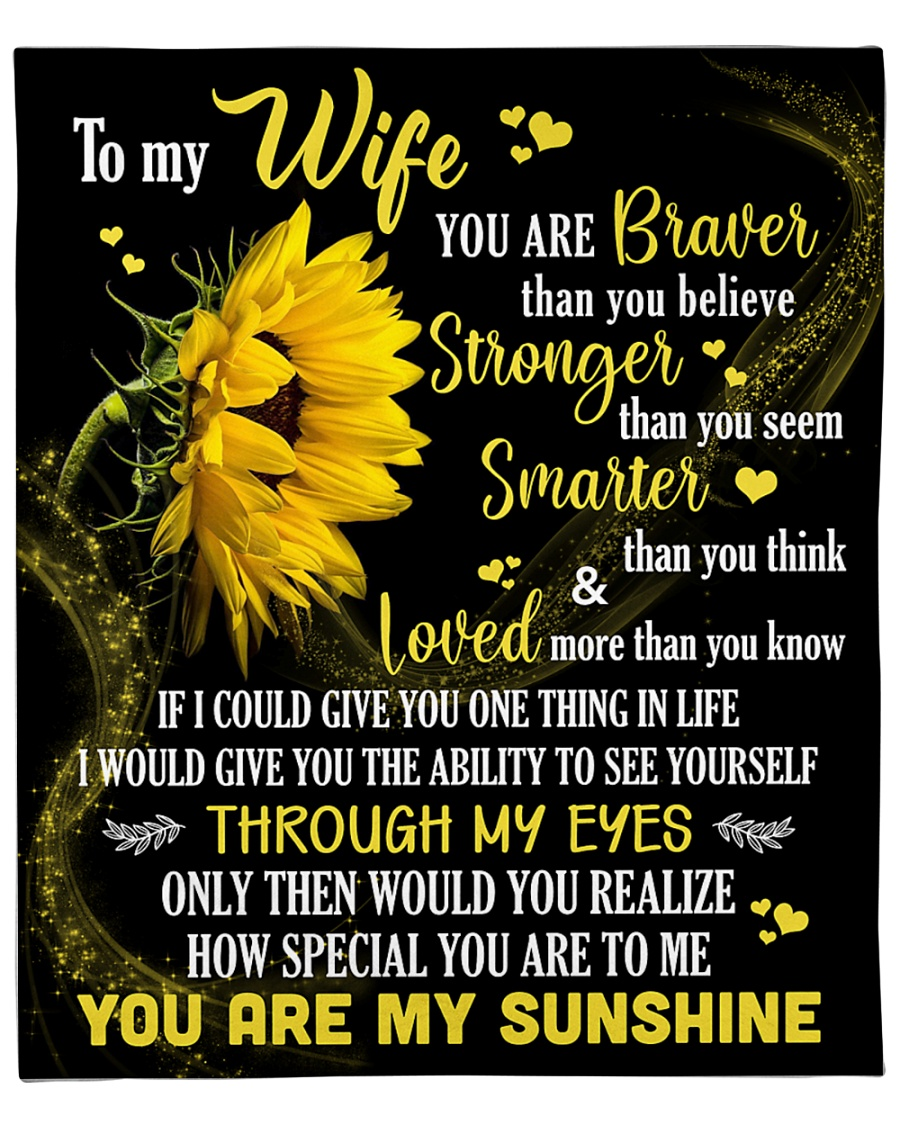 """To My Wife How Special You Are To Me Fleece Blanket - 50"""" x 60"""""""