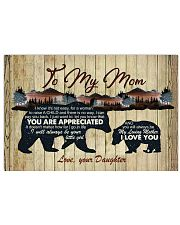 I Know It's Not Easy For A Woman Daughter To Mom Horizontal Poster tile