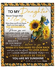 """Never Forget That I Love U Sunflower To Daughter Fleece Blanket - 50"""" x 60"""" front"""