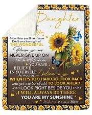 Never Forget That I Love U Sunflower To Daughter Sherpa Fleece Blanket tile