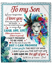 "Never Forget That U Love U Dad To Son Fleece Blanket - 50"" x 60"" front"
