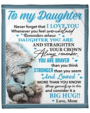 """Wolf Never 4get That I Love You Mom To Daughter Fleece Blanket - 50"""" x 60"""" front"""