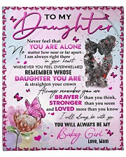 """Never Forget That U Are Alone - Mom To Daughter Fleece Blanket - 50"""" x 60"""" front"""