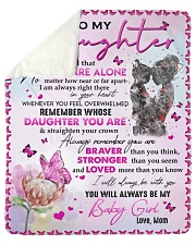 Never Forget That U Are Alone - Mom To Daughter Sherpa Fleece Blanket tile