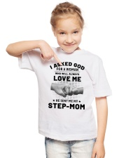 God Sent Me My Step Mom Youth T-Shirt lifestyle-youth-tshirt-front-2