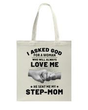 God Sent Me My Step Mom Tote Bag thumbnail