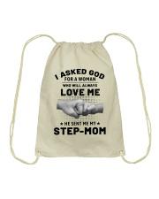 God Sent Me My Step Mom Drawstring Bag thumbnail