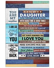 Even Though Life Is Filled Hard Time - To Daughter Vertical Poster tile