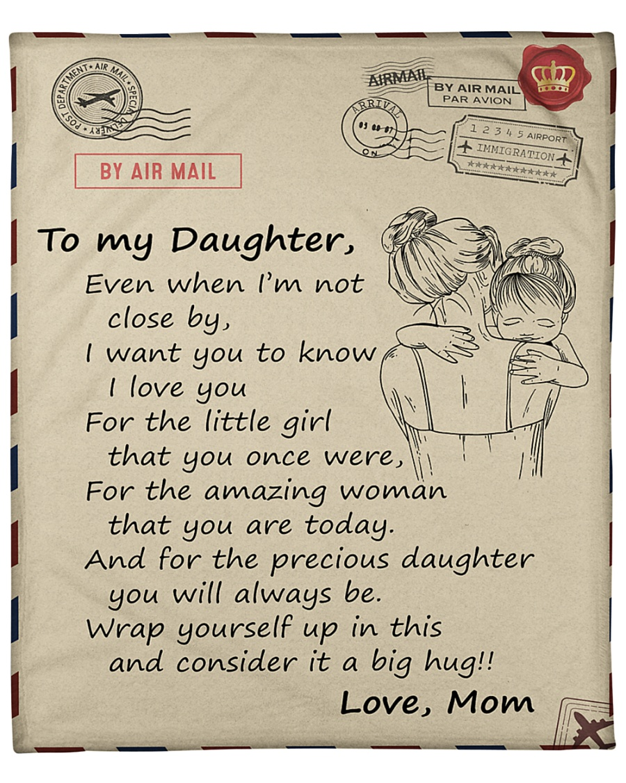 "Daughter Wrap Yourself Up In This I Love You Fleece Blanket - 50"" x 60"""