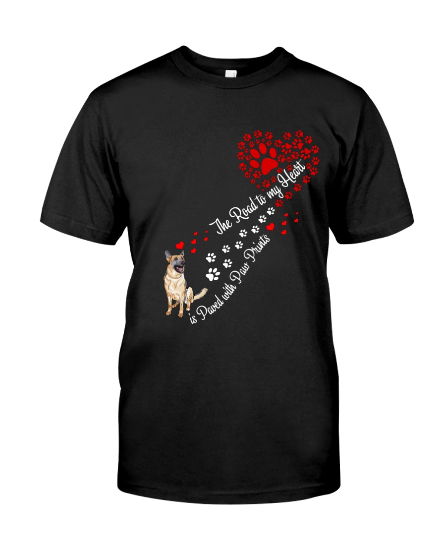 German shepherd Road To My Heart Classic T-Shirt