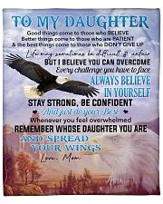 """I Believe U Can Overcome Mom To Daughter Fleece Blanket - 50"""" x 60"""" front"""