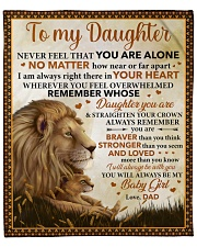 """Never Feel U Are Alone Lion Dad To Daughter Fleece Blanket - 50"""" x 60"""" front"""