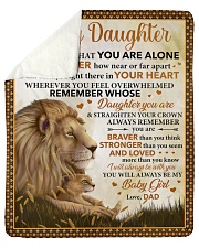 """Never Feel U Are Alone Lion Dad To Daughter Sherpa Fleece Blanket - 50"""" x 60"""" thumbnail"""