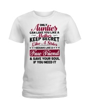 Only Aunties Can Love You Like A Mother Ladies T-Shirt thumbnail