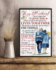 Husband I Love You Because You Are My Life 11x17 Poster lifestyle-poster-3