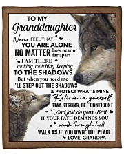 "Never Feel You Are Alone Grandpa To Granddaughter  Fleece Blanket - 50"" x 60"" front"