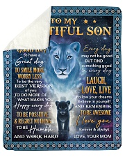 Lion - Today Is A Good Day Mom-To-Son Sherpa Fleece Blanket tile