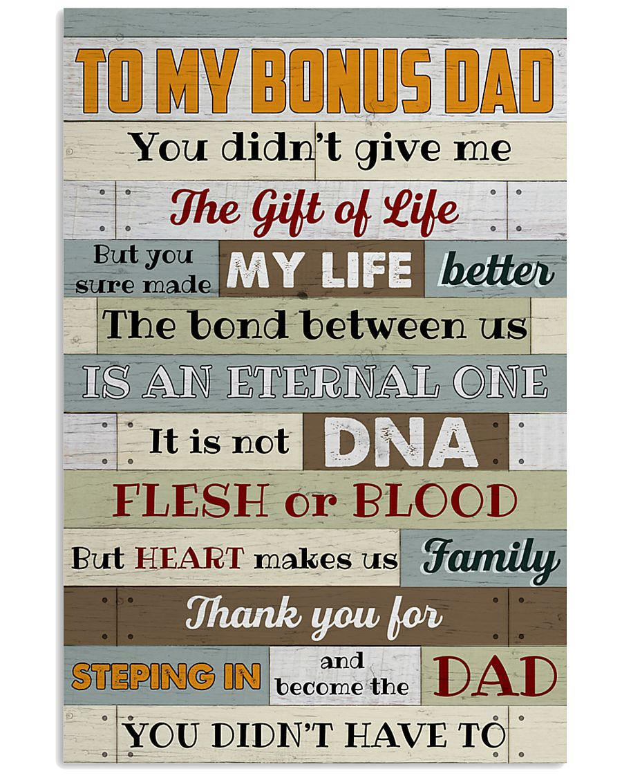 Bonus Dad -Thank you for steping in and become dad 11x17 Poster