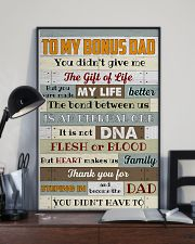 Bonus Dad -Thank you for steping in and become dad 11x17 Poster lifestyle-poster-2