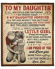 "My Little Girl Yesterday Dad To Daughter Fleece Blanket - 50"" x 60"" front"