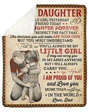 My Little Girl Yesterday Dad To Daughter Sherpa Fleece Blanket tile