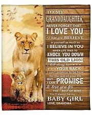 "Never 4get That I Love U Grandma-To-Granddaughter Fleece Blanket - 50"" x 60"" thumbnail"
