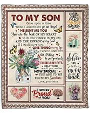 """Once Upon A Time I Asked God Mom To Son Fleece Blanket - 50"""" x 60"""" front"""