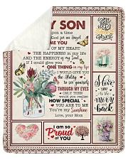 Once Upon A Time I Asked God Mom To Son Sherpa Fleece Blanket tile