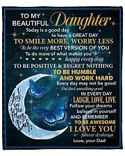 """Daughter To Be The Very Best Version Of You Fleece Blanket - 50"""" x 60"""" front"""