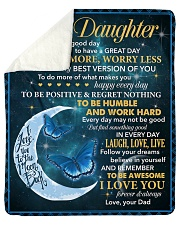 Daughter To Be The Very Best Version Of You Sherpa Fleece Blanket tile
