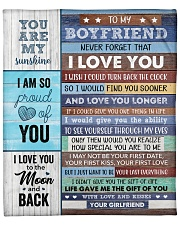 "Never Forget That I Love U Girlfriend To Boyfriend Fleece Blanket - 50"" x 60"" front"