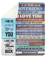 "Never Forget That I Love U Girlfriend To Boyfriend Sherpa Fleece Blanket - 50"" x 60"" thumbnail"