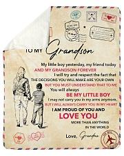 My Little Boy Yesterday - Grandma To Grandson Sherpa Fleece Blanket tile