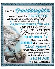 """Wolf Never 4get I Love U Grandma To Granddaughter Fleece Blanket - 50"""" x 60"""" front"""