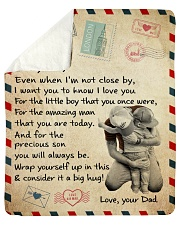 """Even When I'm Not Close By Dad To Son Sherpa Fleece Blanket - 50"""" x 60"""" thumbnail"""