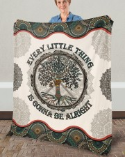 """Every Little Thing  Is Gonna Be Alright Hippie Fleece Blanket - 50"""" x 60"""" aos-coral-fleece-blanket-50x60-lifestyle-front-02a"""