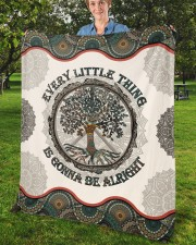 """Every Little Thing  Is Gonna Be Alright Hippie Fleece Blanket - 50"""" x 60"""" aos-coral-fleece-blanket-50x60-lifestyle-front-02b"""