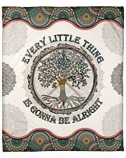 """Every Little Thing  Is Gonna Be Alright Hippie Fleece Blanket - 50"""" x 60"""" front"""