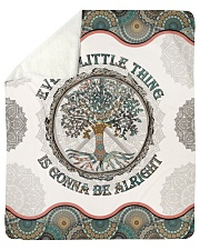 Every Little Thing  Is Gonna Be Alright Hippie Sherpa Fleece Blanket tile
