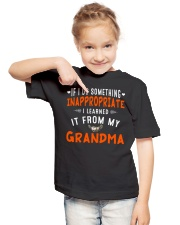 I Learn From My Grandma Youth T-Shirt lifestyle-youth-tshirt-front-2