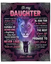 "I Want U To Belive Deep Lion Mom To Daughter Fleece Blanket - 50"" x 60"" front"