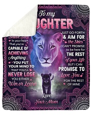 I Want U To Belive Deep Lion Mom To Daughter Sherpa Fleece Blanket tile